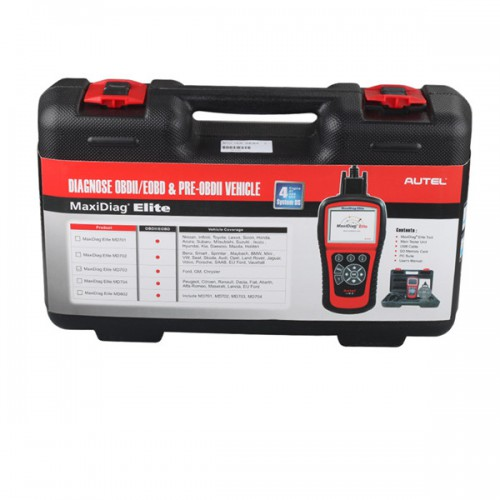 [Free Shipping] Autel MaxiDiag Elite MD703 Four System with Data Steam USA Vehicle Diagnostic Tool Update Online