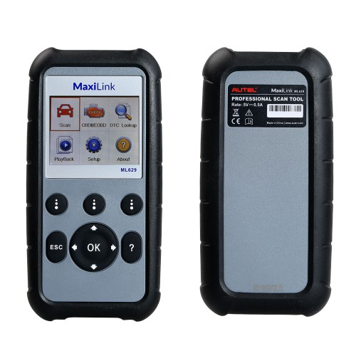 100% Original Autel MaxiLink ML629 ABS Airbag Code Reader Check Engine Transmission Codes Update Version of ML619 AL619 Lifetime Free Update Online