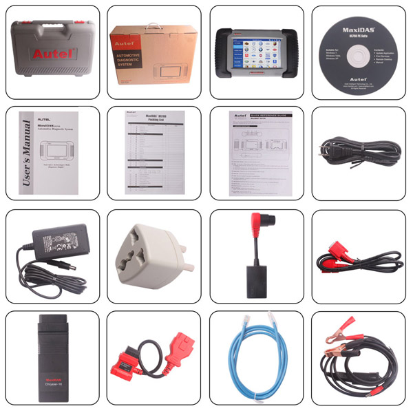 Autel DS708 Package List