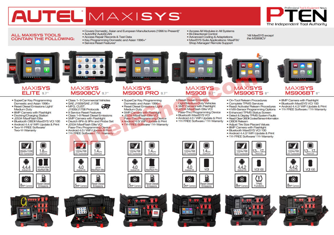 Autel MaxiSys MS908 MaxiSys Diagnostic