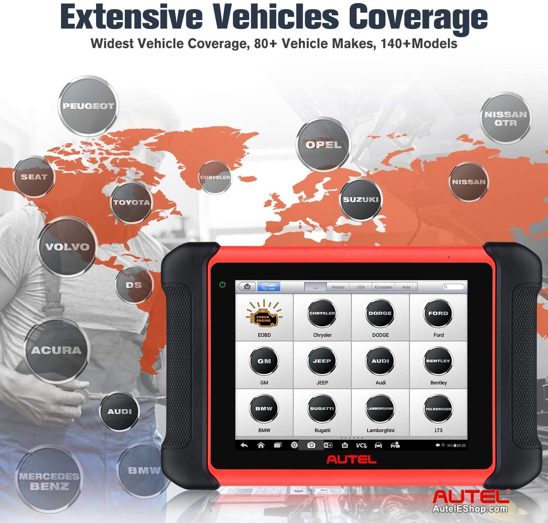 Autel MaxiCOM MK906BT Full System Diagnostic Tool Support ECU Coding &  Bi-Directional Control